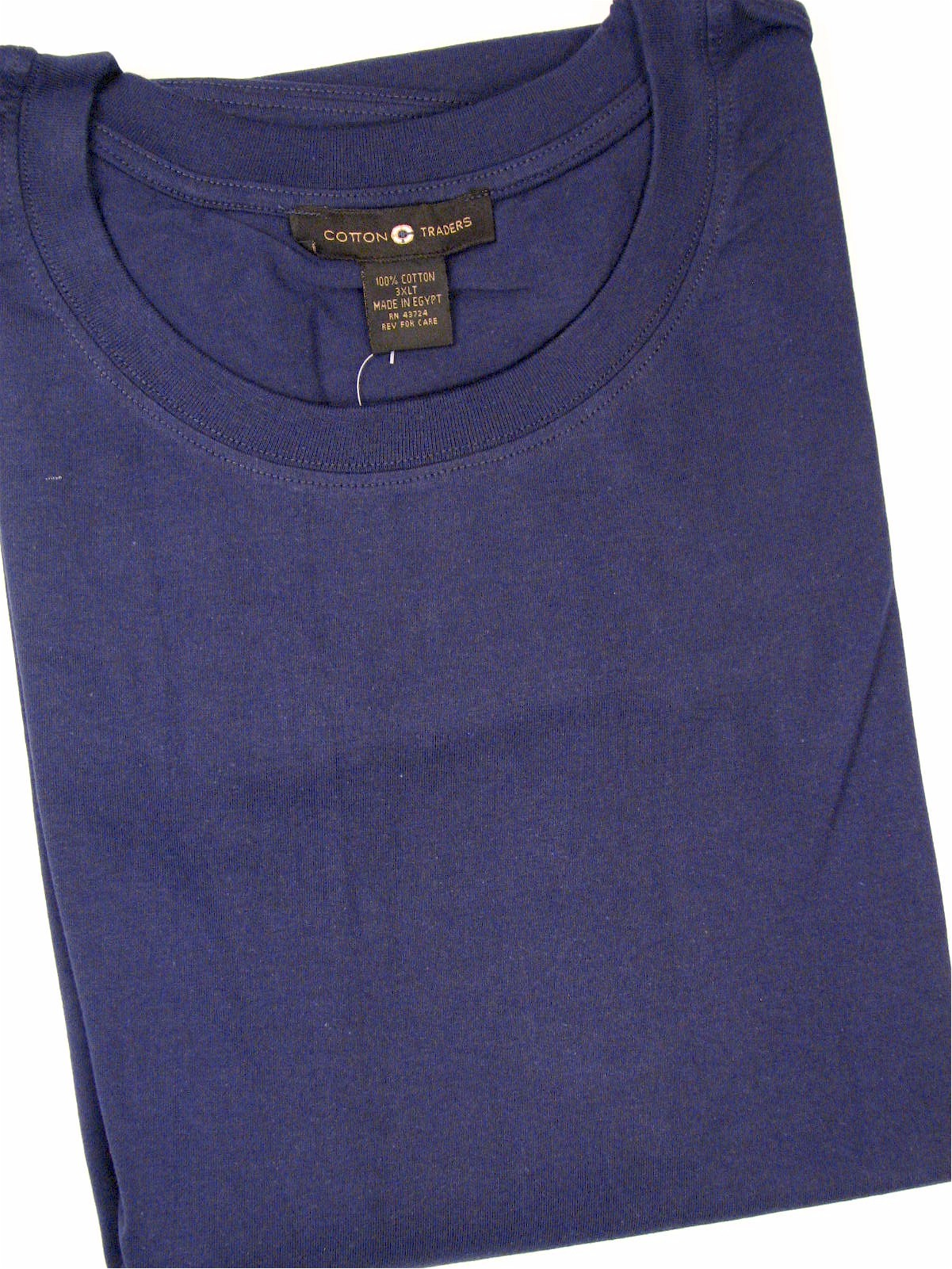 #000097. 3XL TALL. NAVY Retail $  18.00 Short Slv No Pocket by CTTON TRADERS. NON-POCKET TEE Whs A:  7