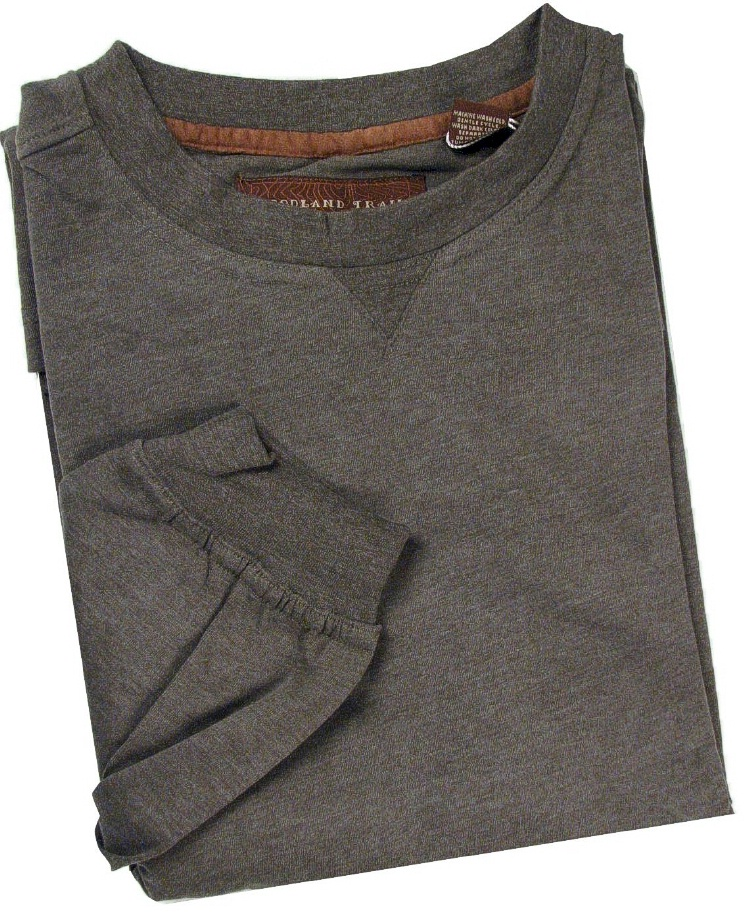 #000426. 3XL TALL. OLIVE Retail $  43.00 Long Sleeve by WOOD LAND TRAIL. MOLESKIN LONGSLV CREW Whs B:  1