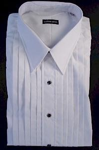 #024723. 18.0 36-37 Tall. WHITE Retail $  99.00 Dress Long Sleeves by GITMAN BROTHERS. TUXEDO POINT 2FOLD FW:  1