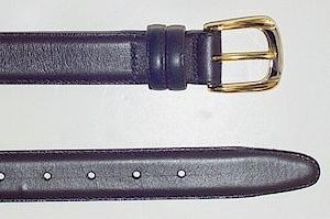 #196732. 52 . BROWN Retail $  34.00 Belts by MARK WOLF. OIL TAN LTHR KEEPER Whs A:  1