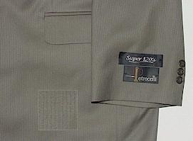 #315472. 50 LONG. TAUPE Retail $ 425.00 Clothing/Suits by PETROCELLI. SUPER 120S TONAL FW:  1
