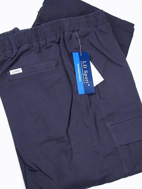 #068752. 4XL BIG. NAVY Retail $  55.00 French Fleece Pants by LD SPORT. FR TERRY CARGO PANT Whs A:  6 FW:  1