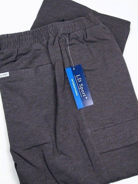#284596. 3XL BIG. CHARCOAL Retail $  55.00 French Fleece Pants by LD SPORT. FR TERRY CARGO PANT Whs A:  3