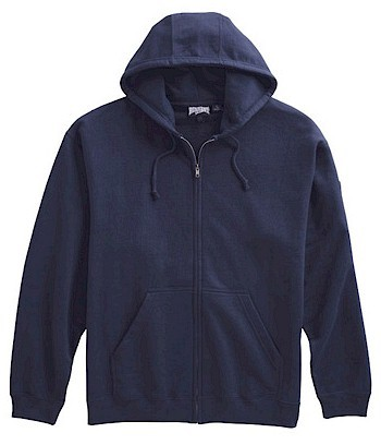 #125428. 2XL TALL. NAVY Retail $  44.00 Athletic Crew by WHITE MOUNTAIN. FULL ZIP HOODY Whs A:  8