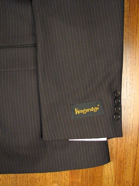 #090320. 56 LONG. BROWN Retail $ 399.00 Clothing/Suits by AUSTIN REED. FINE PIN/PLEAT FW:  1