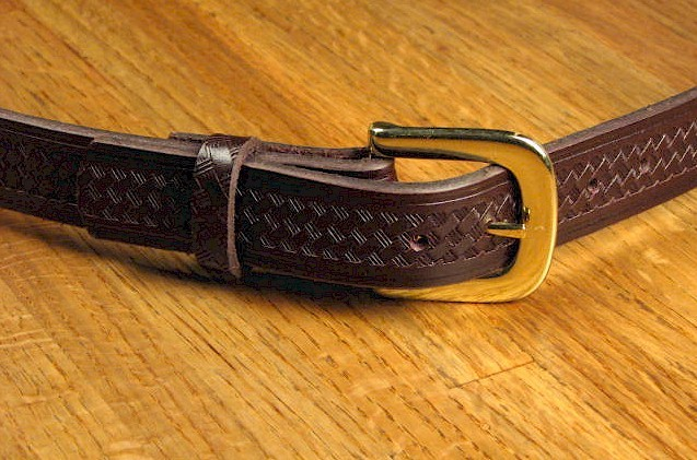 #214188. 62 . BROWN Retail $  35.00 Belts by MARK WOLF. BASKET WEAVE 1-1/4 Whs A:  1