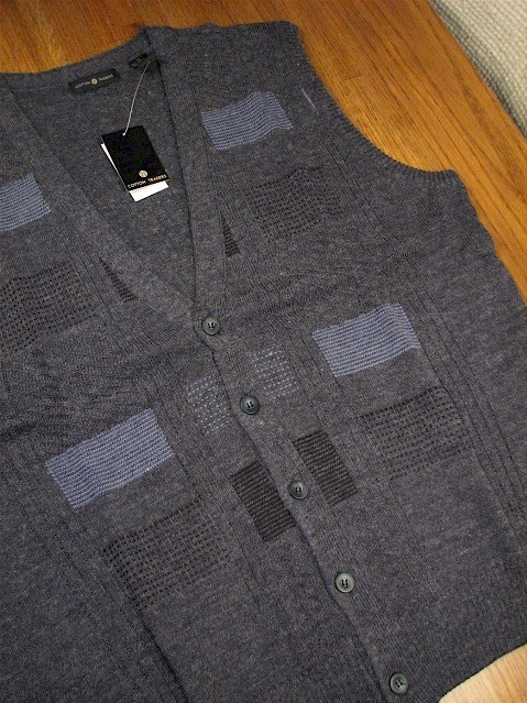 #209722. 2XL TALL. NAVY Retail $  64.00 Sweaters by CTTON TRADERS. CARDIGAN VEST Whs A:  1 FW:  1