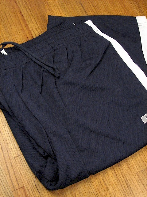 #318565. 3XL TALL. NAVY/WHT Retail $  38.00 Dri-Power Pants by RUSSELL. DRI-POWER PANT STRIPE Whs A:  9