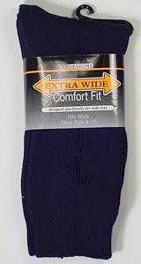 #101538.  . NAVY Retail $   9.00 Regular Sized Socks by EXTRA WIDE SOCK. REG XTRA WIDE Whs A:  3