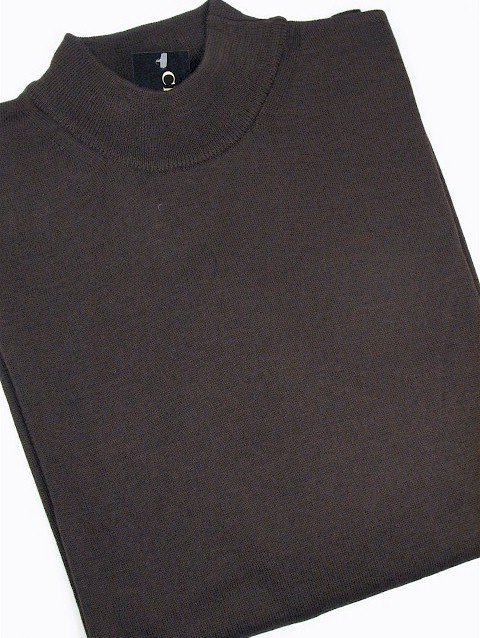 #126692. 3XL TALL. BROWN Retail $  69.00 Sweaters by CELLINI. MOCK MERINO BLEND Whs A:  1