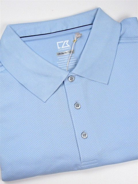 #091091. 3XL BIG. BLUE Retail $  89.50 Short Sleeve Luxury by CUTTER BUCK. DRYTEC LUX JACK POLO Whs A:  1