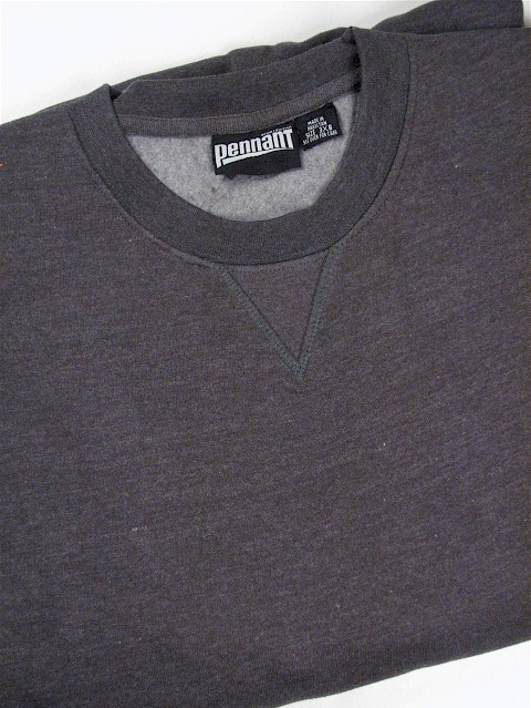 #322070. 10XL BIG. CHARCOAL Retail $  46.00 Athletic Crew by WHITE MOUNTAIN. PENNANT FLEECE CREW Whs A:  6 FW:  1