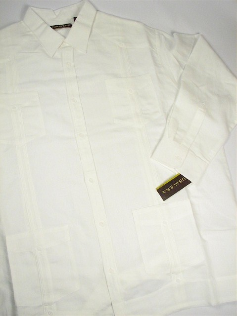 #269968. 2XL BIG. WHITE Retail $  85.00 Long Sleeve by CUBAVERA. RAMIE LONGSLV GUAYBER FW:  1