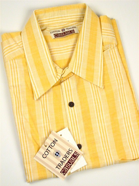 #252645. 2XL BIG. MELON Retail $  48.00 Short Sleeve Updated by CTTON TRADERS. CT CASUAL LINEN STRIP Whs A:  1