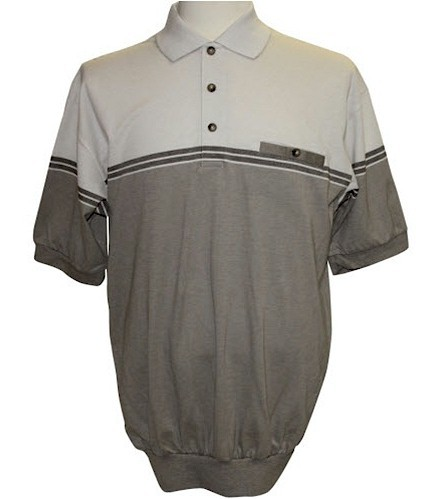 #302337. 3XL TALL. NATURAL Retail $  46.00 Short Sleeve by LD SPORT. KC KNIT 2-COLOR SOLID FW:  1