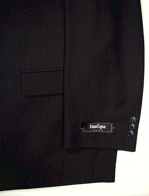 #277084. 54 P-RG. NAVY Retail $ 360.00 Clothing/Suits by ZEGNORELLI. PORTLY SUIT PLAIN PNT FW:  1,