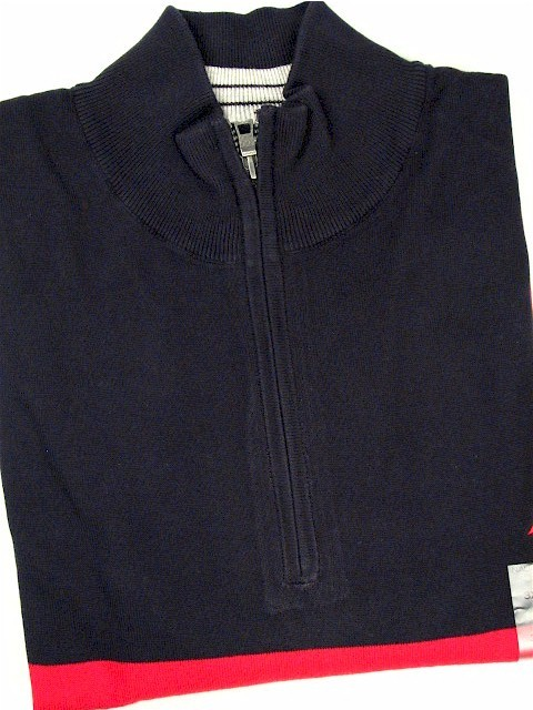 #313058. 3XL BIG. NAVY Retail $  89.50 Long Sleeve by NAUTICA. QTR ZIP BEEFY JERSEY FW:  1,