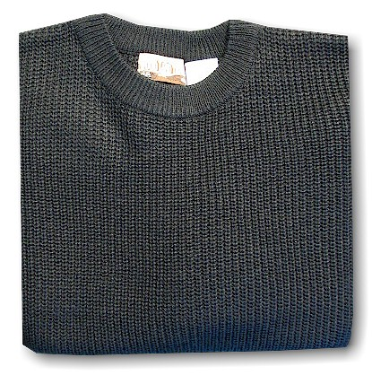 #254760. XL BIG. BLACK Retail $  39.00 Sweaters by WOOD LAND TRAIL. ACRYLIC SHAKER CREW Whs A: 10