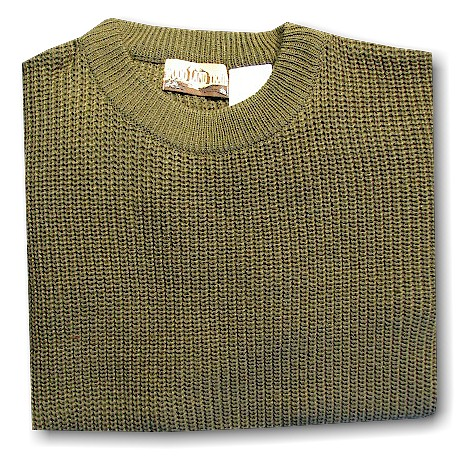 #087863. XL BIG. OLIVE Retail $  39.00 Sweaters by WOOD LAND TRAIL. ACRYLIC SHAKER CREW Whs A:  4
