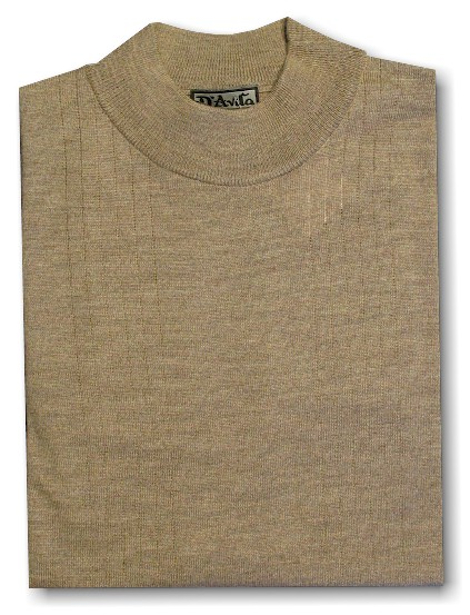 #155027. 4XL TALL. TAUPE Retail $  69.00 Sweaters by D'AVILA. MERINO WOOL MOCK Whs A:  2