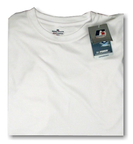 #104157. 6XL BIG. WHITE Retail $  33.00 Dri Power Crew by RUSSELL. DRI-POWER CREW TEE Whs A:  1 FBA:  3