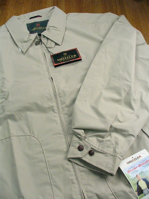 #035835. XL TALL. STONE Retail $  59.00 Outerwear by DRIZZLER. MCGREGOR GOLF JACKET Whs A:  7