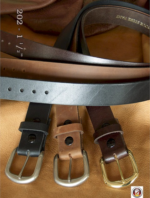 #164276. 44 . BROWN Retail $  35.00 Belts by MARK WOLF. OIL TAN 1 1/2 INCH Whs A:  2