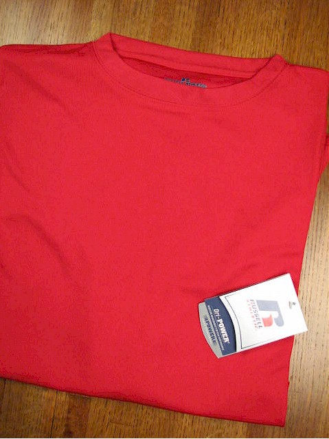 #113461. 6XL BIG. RED Retail $  33.00 Dri Power Crew by RUSSELL. DRI-POWER CREW TEE Whs A:  4 FBA:  6
