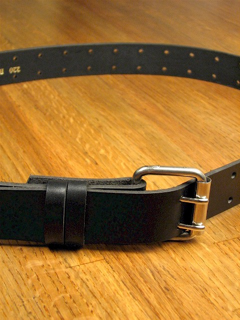 #092212. 50 . BLACK Retail $  35.00 Belts by MARK WOLF. DOUBLE PRONG HOLES Whs A:  1
