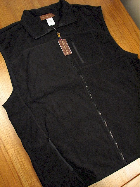 #006099. 2XL TALL. BLACK Retail $  42.00 Outerwear by WOOD LAND TRAIL. POLAR FLEECE ZIP VEST Whs A:  1