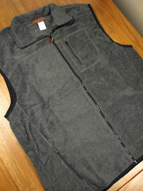 #235844. XL TALL. CHARCOAL Retail $  42.00 Outerwear by WOOD LAND TRAIL. POLAR FLEECE ZIP VEST Whs A:  1