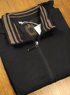 #002723. 2XL TALL. BLACK Retail $ 110.00 Sweaters by CUTTER BUCK. FULL ZIP TRACK JACKET