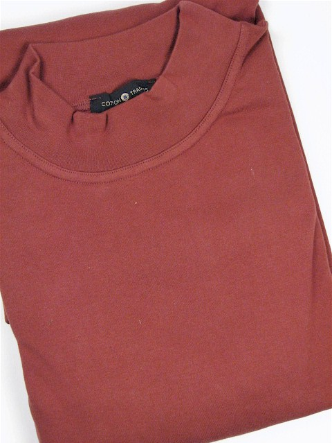 #012362. 2XL BIG. SPICE Retail $  29.50 Long Sleeve by CTTON TRADERS. INTERLOCK MOCK SOLID