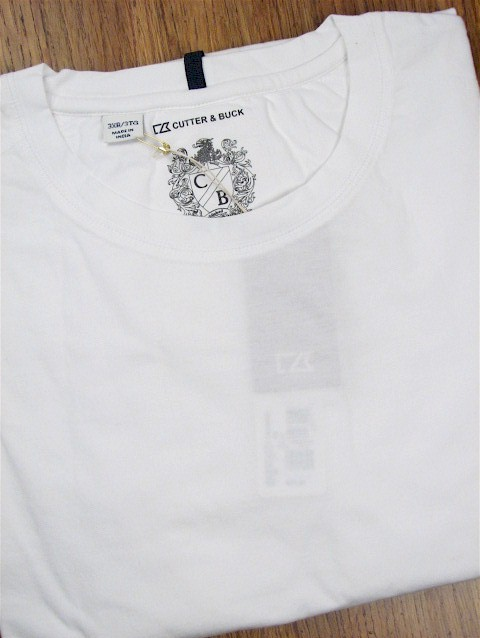 #299213. XL TALL. WHITE Retail $  59.00 Short Slv No Pocket by CUTTER BUCK. LAID BACK WEEKEND TEE Whs A:  1