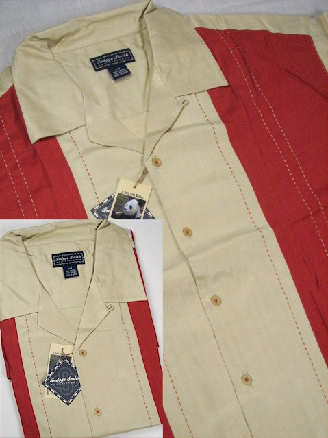 #269872. 2XL TALL. CLAY Retail $  59.00 Short Sleeve Updated by INDYGO SMITH. RIBBED PANELS Whs A:  2