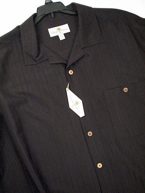#020981. 2XL TALL. BLACK Retail $  60.00 Short Sleeve Updated by ISLAND SHORES. TONAL CAMP Whs A:  1