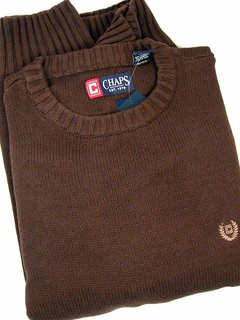 #202970. 2XL TALL. BIRCH Retail $  72.00 Sweaters by CHAPS. COTTON CREW NECK Whs A:  1