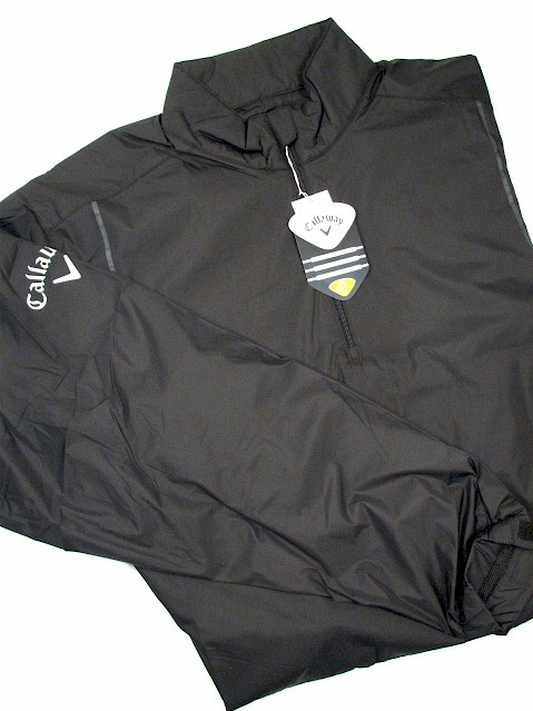 #082699. 3XL BIG. BLACK Retail $  95.00 Outerwear by CALLAWAY GOLF. 1/4 ZIP WINDSHIRT Whs A:  1