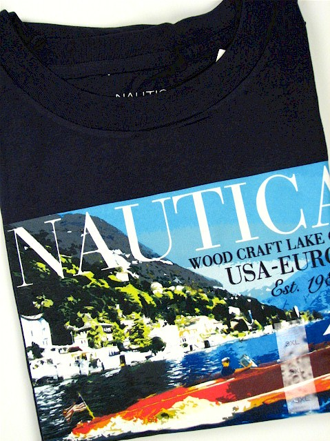 #056007. 2XL TALL. NAVY Retail $  35.00 Short Slv Graphic Tee by NAUTICA. WOODCRAFT CLUB USA Whs A:  3