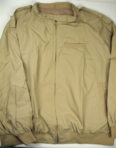 #259844. 5XL TALL. KHAKI Retail $  75.00 Outerwear by CTTON TRADERS. THROAT LATCH CHINTZ Whs A:  1