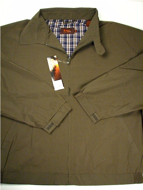 #352174. 3XL TALL. OLIVE Retail $  85.00 Outerwear by COPPER COVE. LT WEIGHT JACKET Whs A:  2