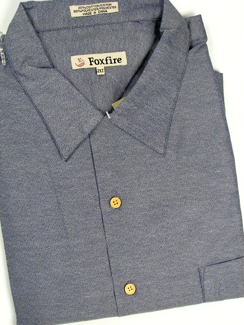 #215596. 2XL TALL. CHARCOAL Retail $  55.00 Short Sleeve Updated by FOXFIRE. SOLID CREPE CAMP Whs A:  3