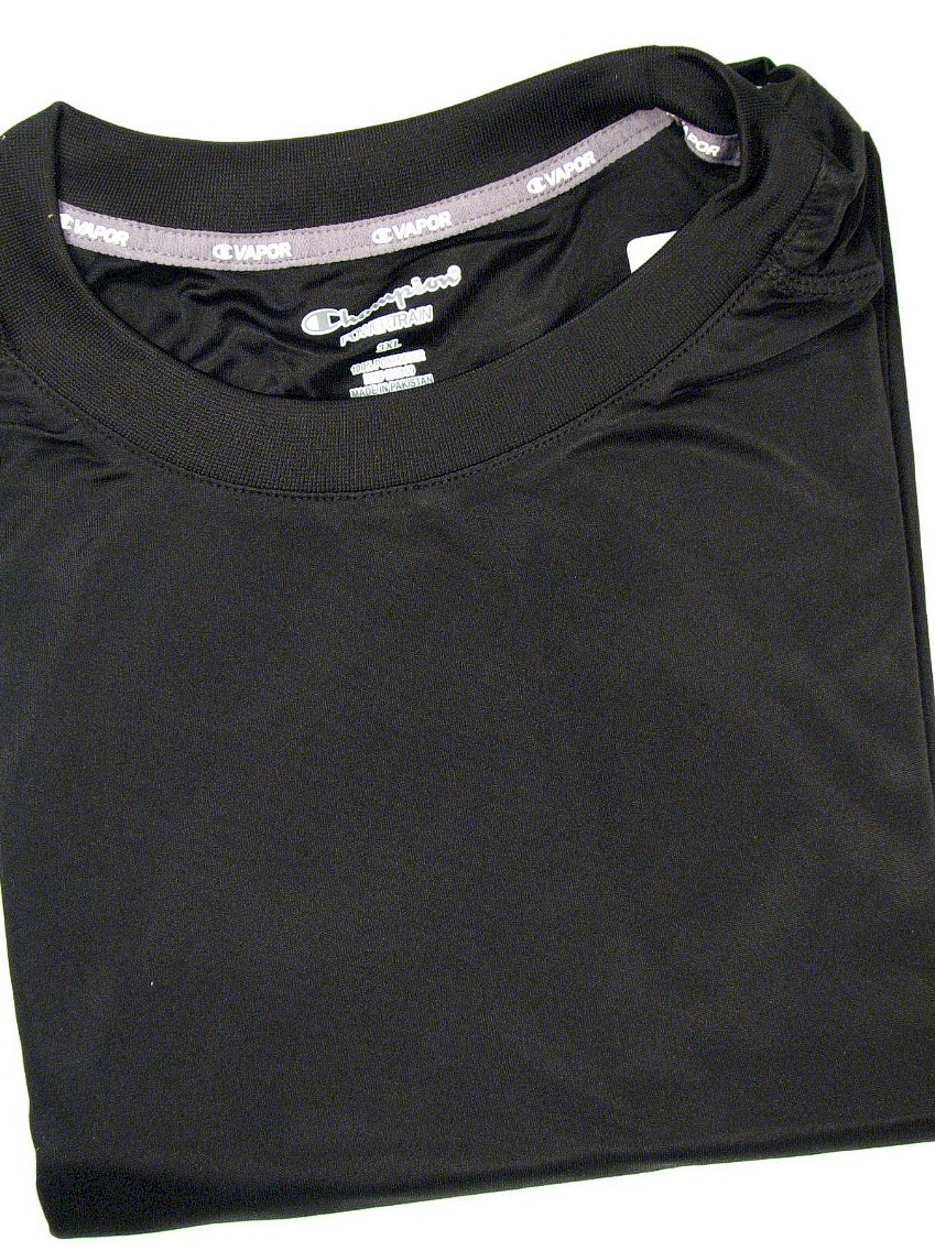 #218919. 4XL BIG. BLACK Retail $  36.00 Dri Power Crew by CHAMPION. VAPOR DRY TECH CREW Whs A: 15 FW:  2