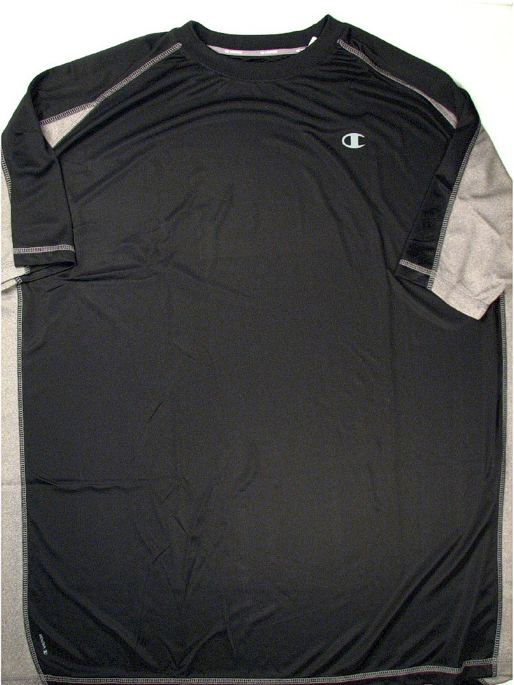 #333894. 3XL TALL. BLK/OXF Retail $  38.00 Dri Power Crew by CHAMPION. VAPOR COLORBLOCK CREW Whs A:  9