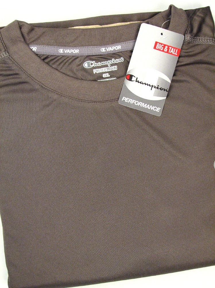 #296780. 4XL BIG. CHAR/OXF Retail $  38.00 Dri Power Crew by CHAMPION. VAPOR COLORBLOCK CREW Whs A:  2