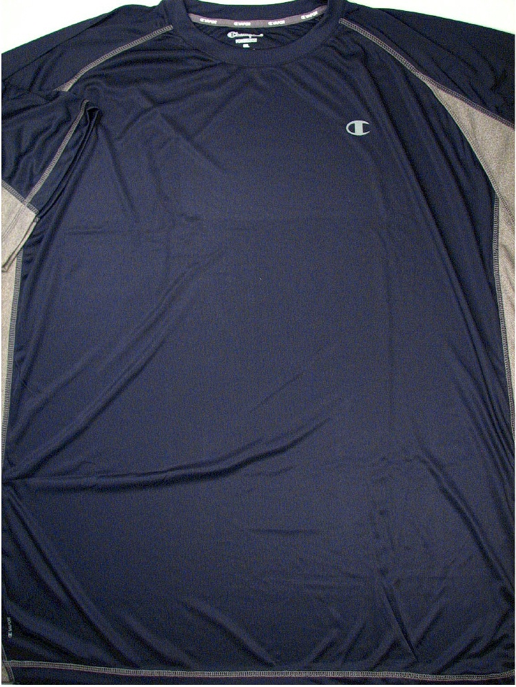 #064048. 3XL TALL. NAVY/OXF Retail $  38.00 Dri Power Crew by CHAMPION. VAPOR COLORBLOCK CREW Whs A:  3