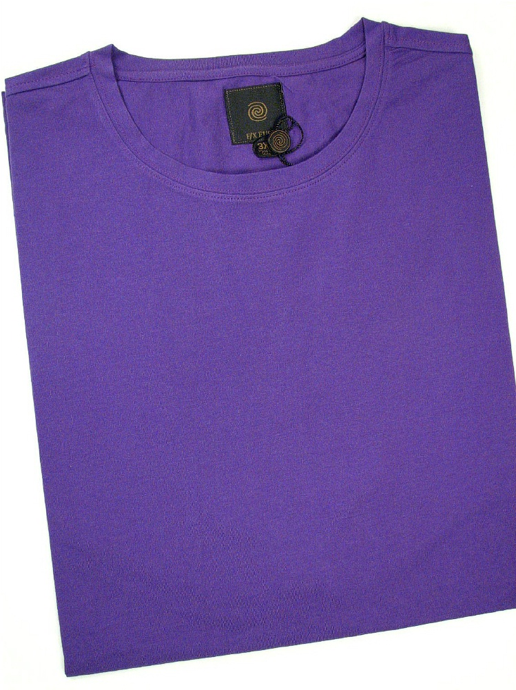 #353427. 3XL TALL. GRAPE Retail $  45.00 Short Slv No Pocket by FX DESIGN. COTTON/SPANDEX TEE Whs A:  1