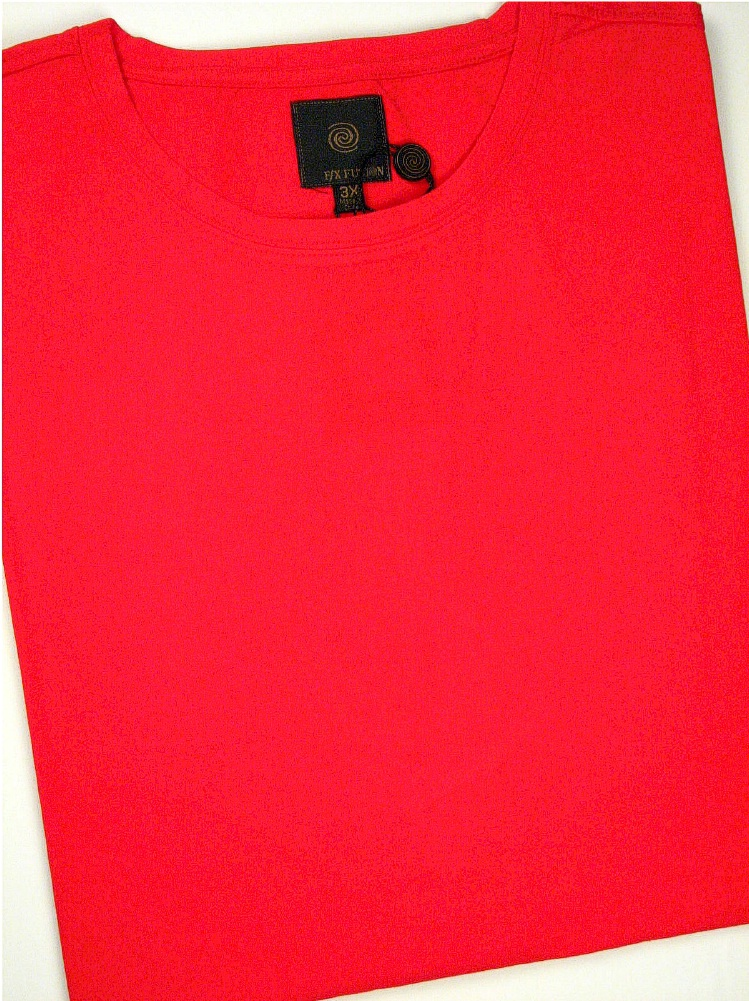 #360252. 3XL TALL. RED Retail $  45.00 Short Slv No Pocket by FX DESIGN. COTTON/SPANDEX TEE Whs A:  1