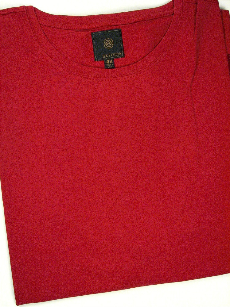 #231439. 3XL TALL. WINE Retail $  45.00 Short Slv No Pocket by FX DESIGN. COTTON/SPANDEX TEE Whs A:  2