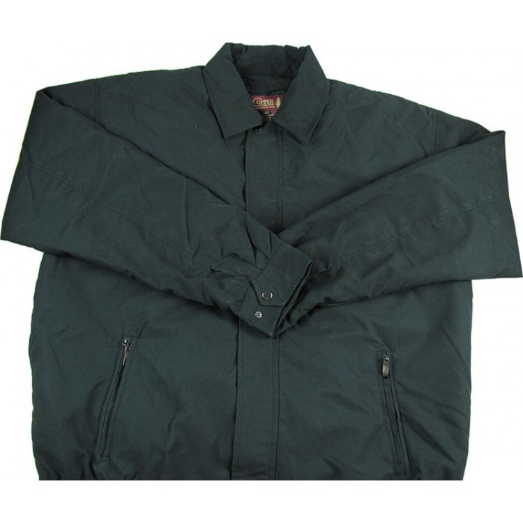 #151605. 3XL TALL. BLACK Retail $  85.00 Outerwear by COPPER COVE. MICROFIBER ZIP LINER Whs A: 15